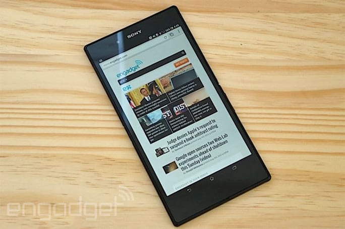 Sony's Xperia Z Ultra gets WiFi-only 'tablet' option, launches in Japan this week