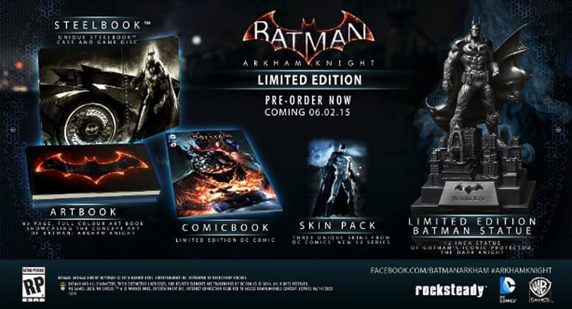 Batman: Arkham Knight Limited Edition is $63 via Wal Mart