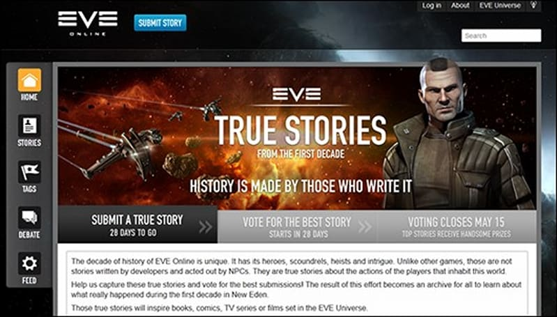 CCP launches True Stories, eyes possible EVE film or TV series