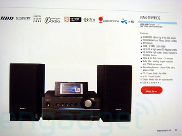 Sony's new networked GIGA Juke stereos leaked