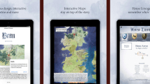 Interaktive Game of Thrones iBooks bei Apple