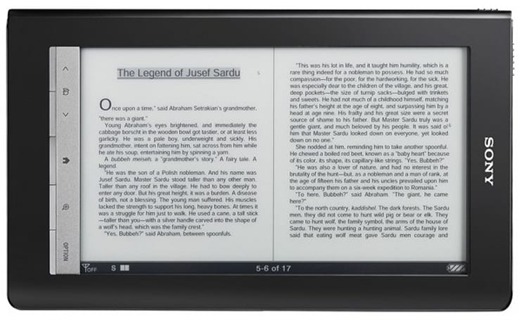 Sony announces Reader Daily Edition, free library ebook checkouts
