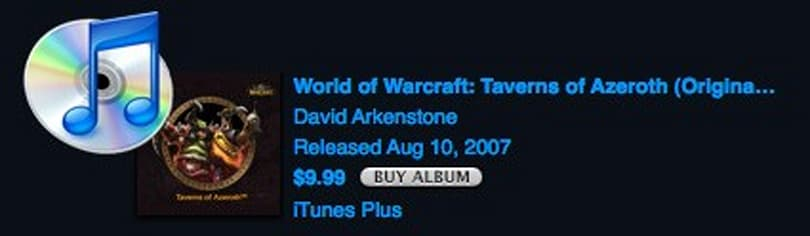 Warcraft music available on iTunes
