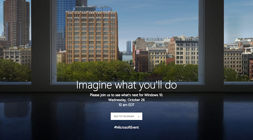 Microsoft will hold a Windows 10 event October 26th