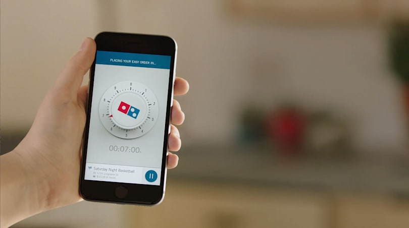 Now you can order a Domino's pizza simply by opening an app