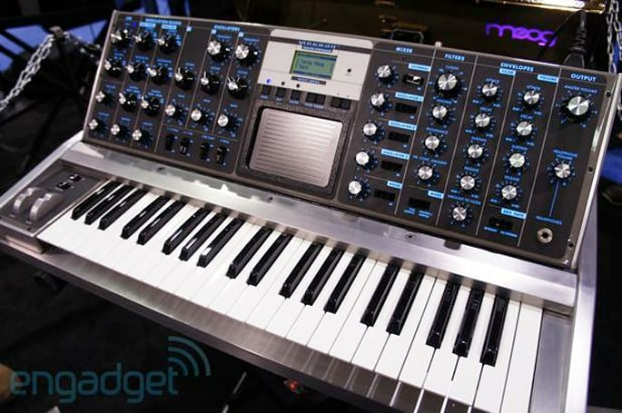 Moog shows off one-of-a-kind Aluminum Voyager and 10th Anniversary Minimoog Voyager at NAMM (eyes-on)