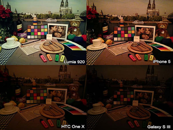 From the lab: Lumia 920 low-light shootout with Nokia 808, iPhone 5, HTC One X and Galaxy S III