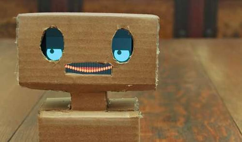 Mimbo the iPhone robot will smile for you, still doesn't get your 'Seinfeld' references
