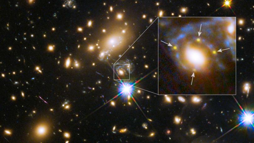The Big Picture: A far-away supernova split into four