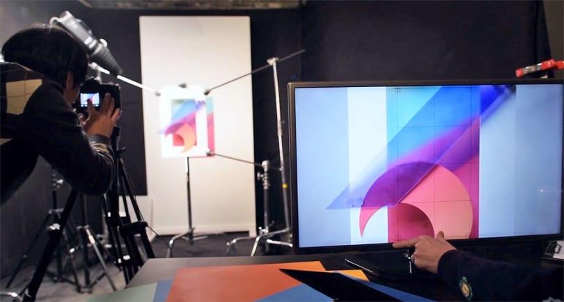 Watch LG's G6 wallpaper get assembled by hand