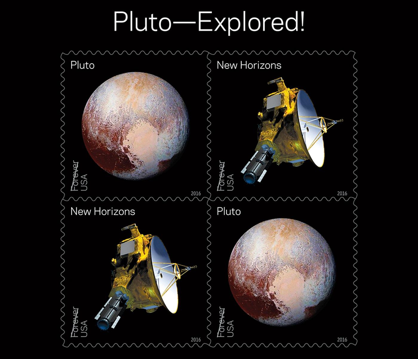 Kerberos Moon Of Plluto: USPS' 2016 Stamps Celebrate Pluto's Exploration