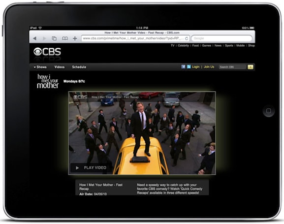 CBS suits up, promises iPad-friendly HTML5 video for all content by this Fall