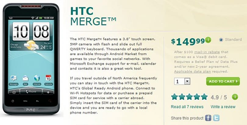 HTC Merge now shipping from US Cellular, LG Genesis arriving June 9th
