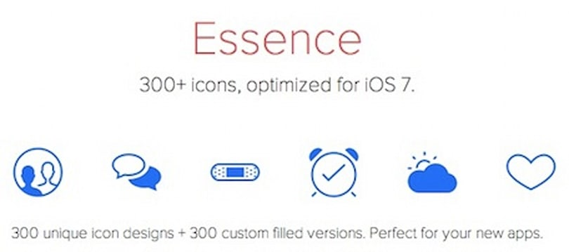 Icons & Coffee's Essence: A set of 600 iOS 7-friendly icons