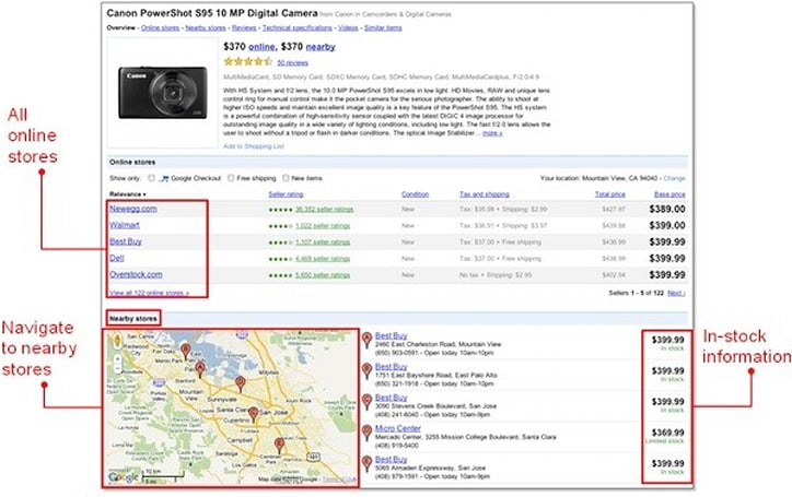 Google Product Search gets local inventory information