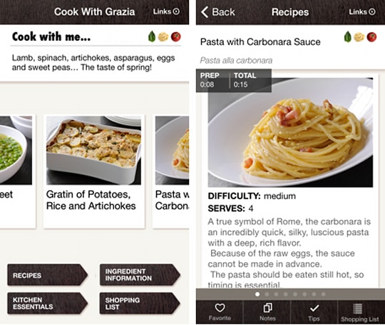 Daily App: Cook with Grazia helps you prepare Italian meals with ease