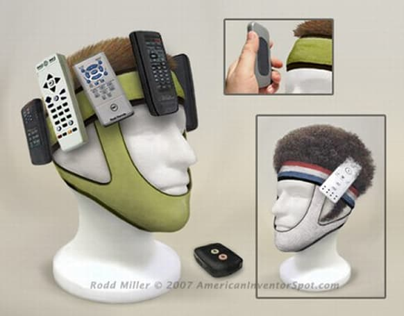 Remote Wrangler straps remotes, gizmos to your noggin