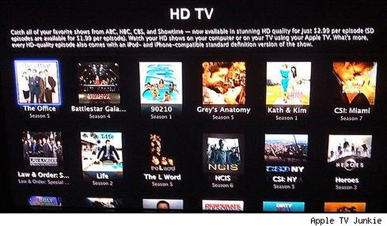 Apple TV update finally lets you buy hi-def TV shows from the couch