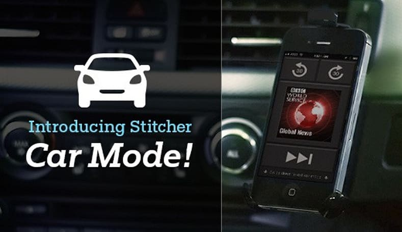 Stitcher adds car mode to iOS app, encourages responsible driving
