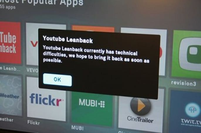 YouTube streams are down on Boxee but not blocked (update: fixed)