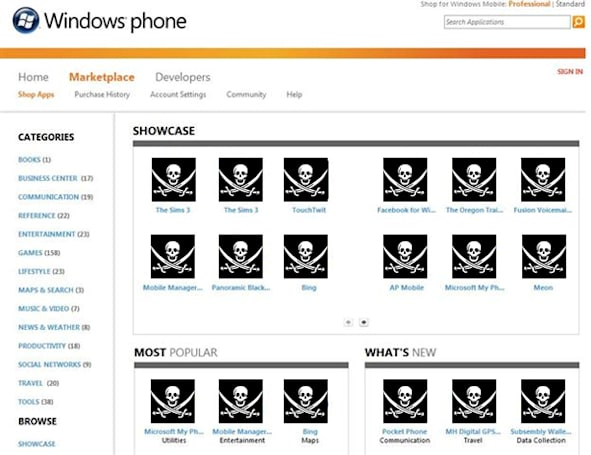 Windows Marketplace's newest anti-piracy measures already thwarted