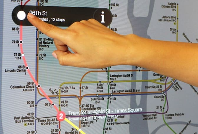 NYC's first touchscreen subway maps are ready to guide you through the boroughs