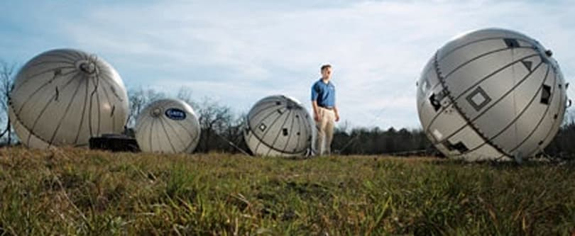 GATR-com inflatable satellite ball goes where other satellite dishes can't