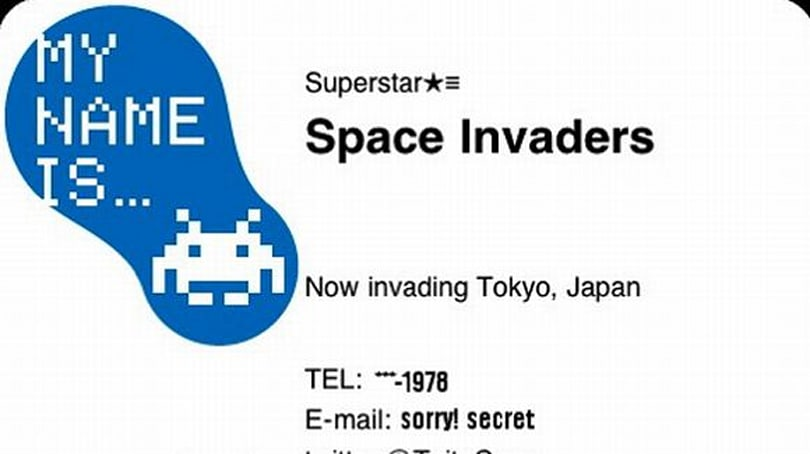 TUAW's Daily App: Space Invaders Business Cards