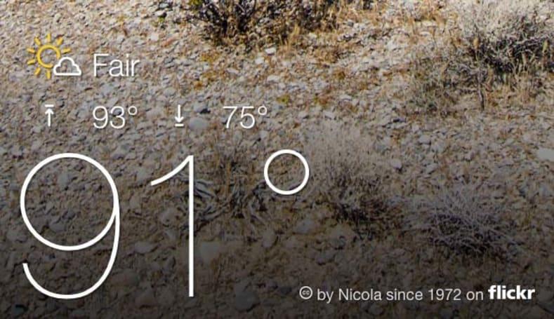 Yahoo updates its weather app
