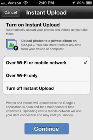 Google+ iOS app updated, instant image upload in tow
