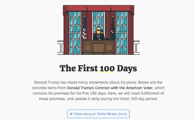 Track Trump will keep tabs on the President's first 100 days