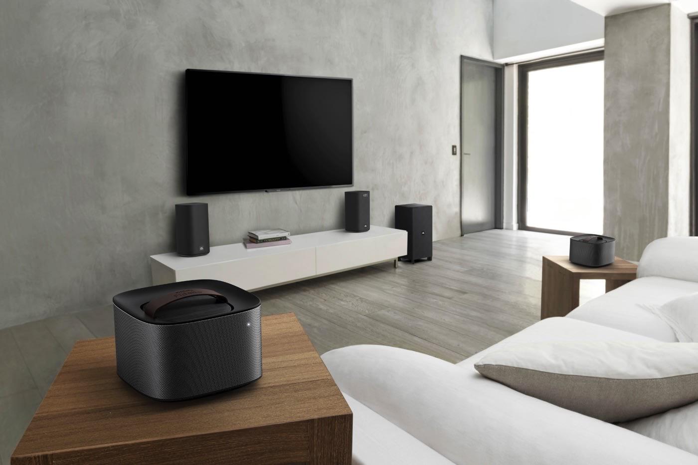 Philips Living Room Audio Gear Includes Detachable Speakers
