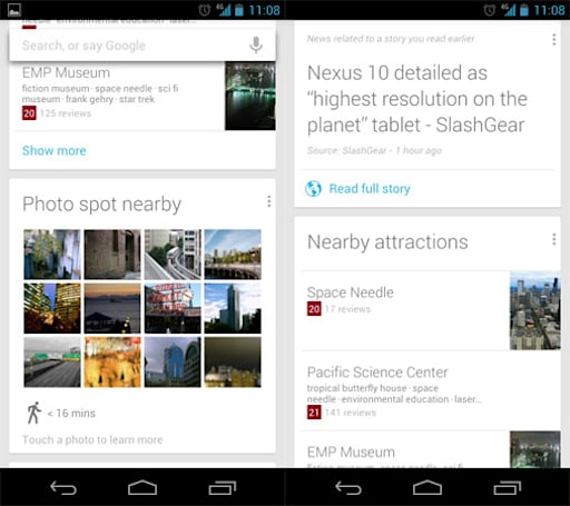 Google Search updated with Now improvements, available on Play store for Jelly Bean devices
