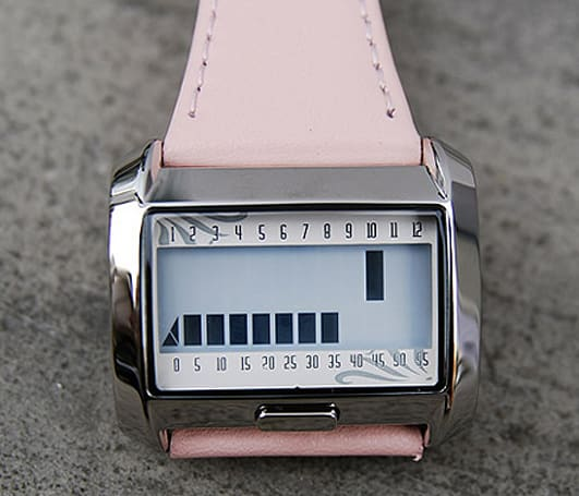 Matrix M6001 watch uses bars, not hands
