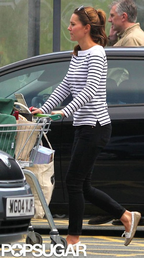 Exclusive: Kate Middleton stocks up to feed her little prince