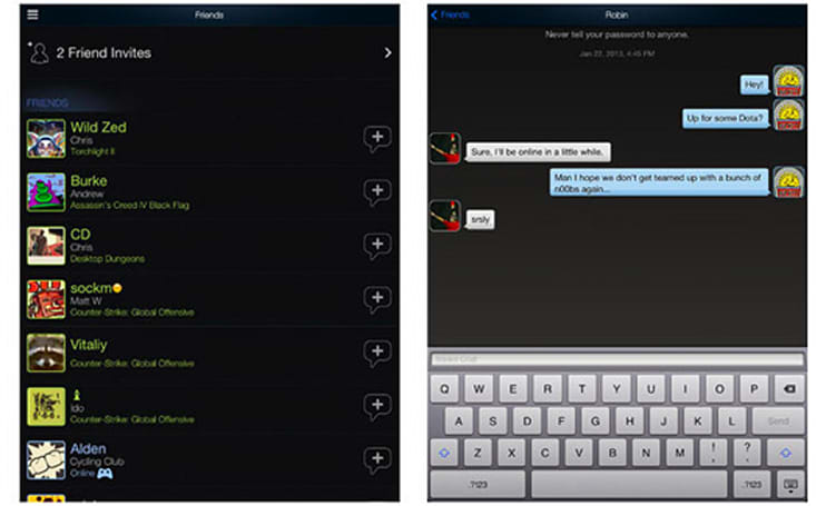 Steam Mobile app gets new look and social options on iOS