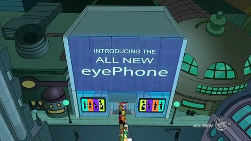 Futurama critiques modern gadget and social media obsession using 1950s technology (video)