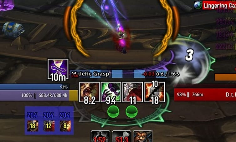 Blood Pact: Weak Aura strings for warlocks