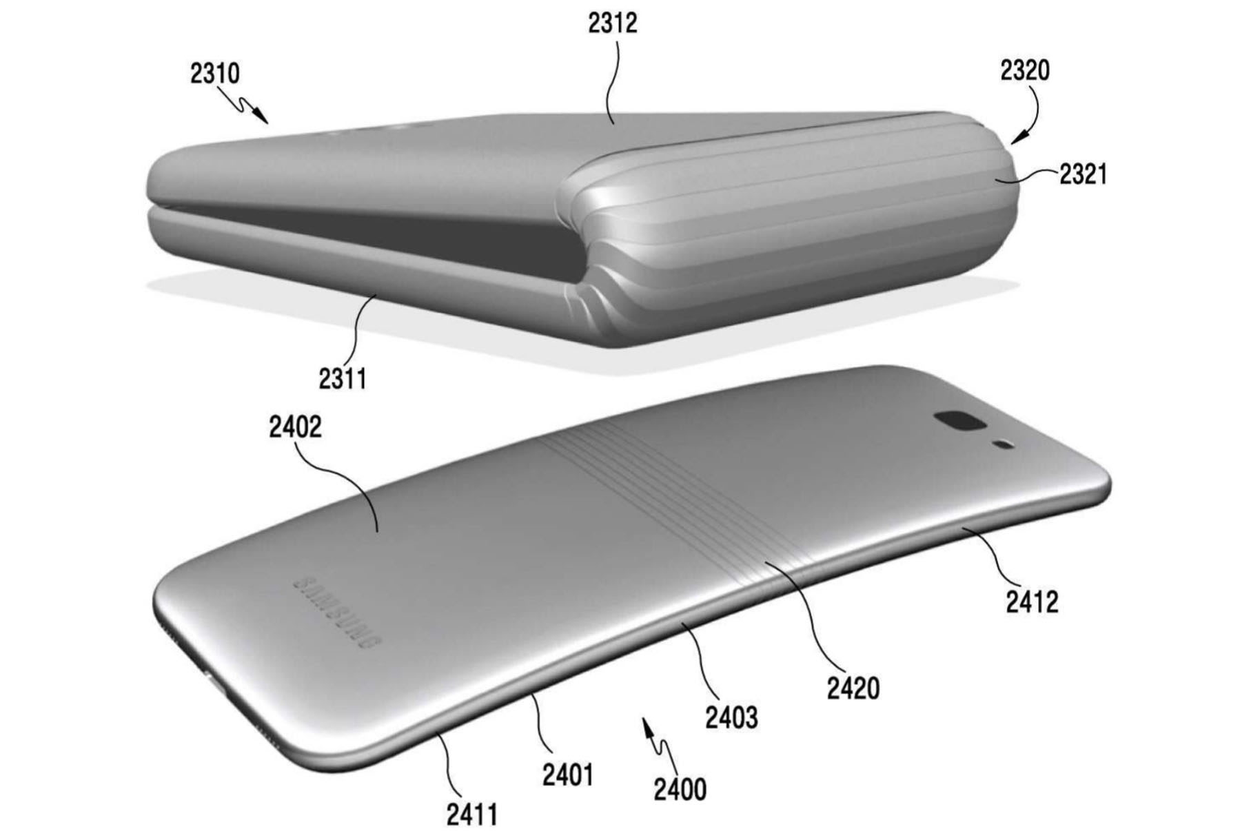 Samsung files patent for a bizarre folding smartphone