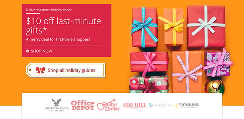 Google Shopping Express starts selling gadgets, continues same-day delivery until December 24th