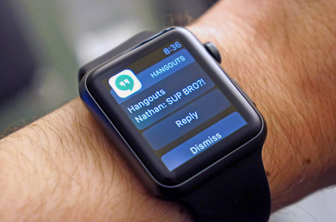 Google Hangouts finally supports Apple Watch
