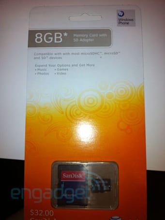 Windows Phone 7-certified microSD cards emerge at AT&T stores: $32 for 8GB
