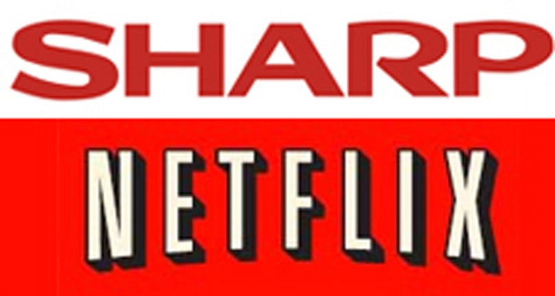 Sharp's BD-HP70U Blu-ray player adds a little red with Netflix support