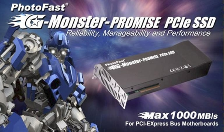 PhotoFast G-Monster-Promise PCIe SSD does 1000MB/s read and writes
