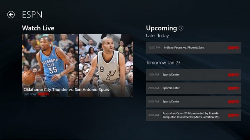 WatchESPN finally comes to Windows 8