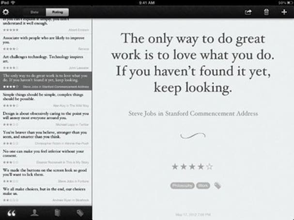 Quotebook 2 offers iCloud, Instapaper support