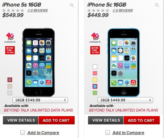 iPhone 5c, 5s launch on Virgin Mobile for $100 off