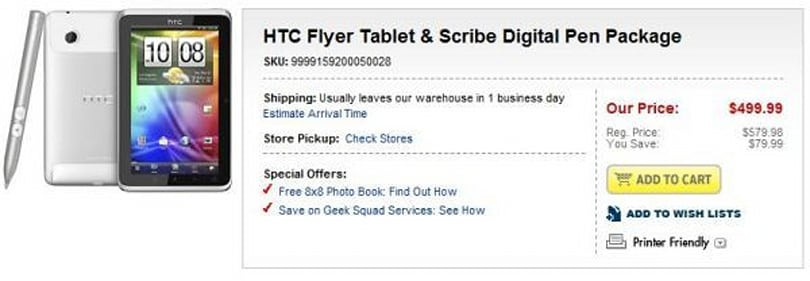 HTC Flyer now includes stylus at Best Buy, you can hang on to your 80 bucks (updated)