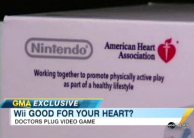 Nintendo Wii gets American Heart Association's stamp of approval