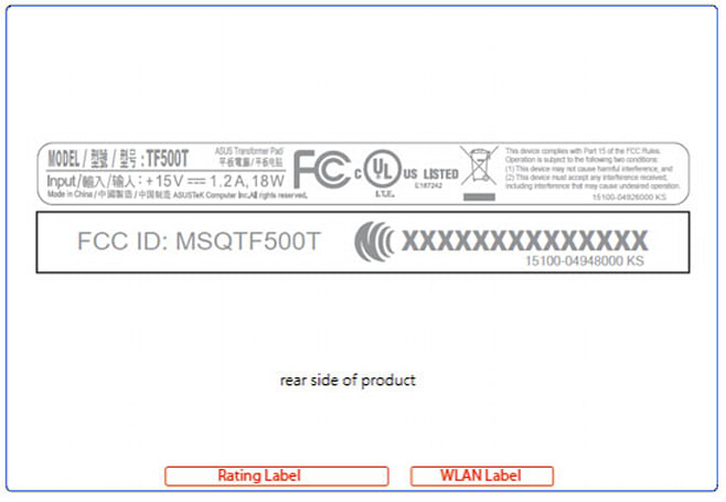 ASUS TF500T shows up at the FCC, has WiFi, is tablet shaped